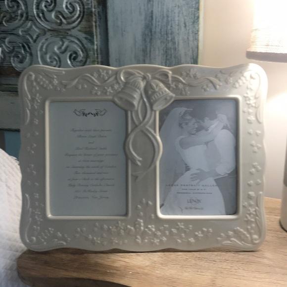 Decorative Collectibles Set Of 2 Lenox 24k Gold Fine Porcelain Ivory Wedding Memorable Picture Frames Lantierstructures Com